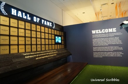 Entrance and Hall of Fame wall.