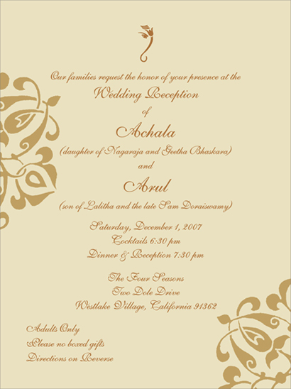 Wedding Reception Invitation Wording To Inspire You How Make Your With Prepossessing Appearance 15