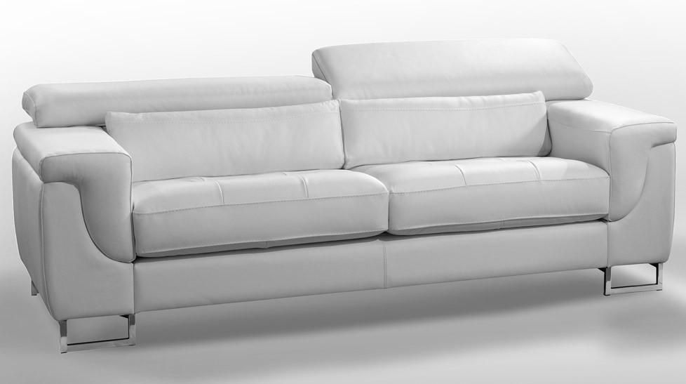 Canap Design Cuir Blanc 3 Places Canap Pas Cher