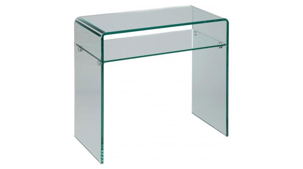 petite console verre courbe 1 rayon l80