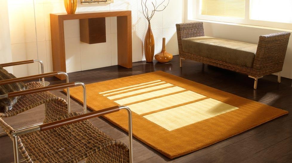 tapis en laine moderne beige soft