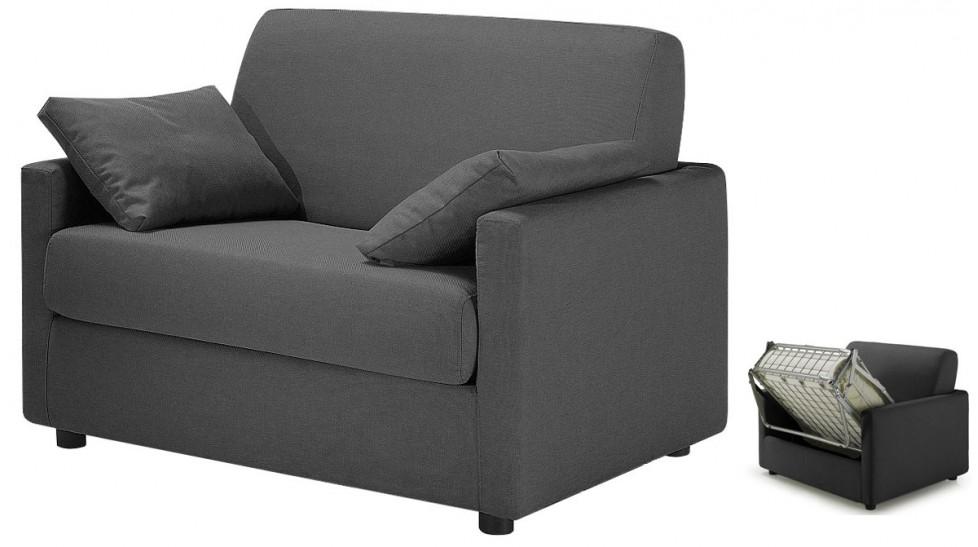 fauteuil convertible tissu gris anthracite david