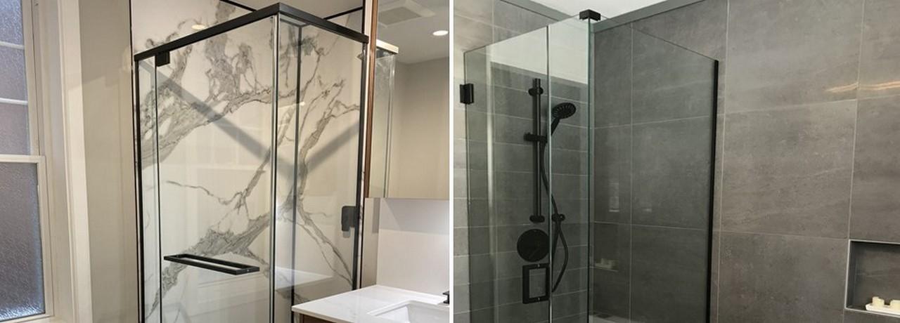 douche en verre rampe cellier