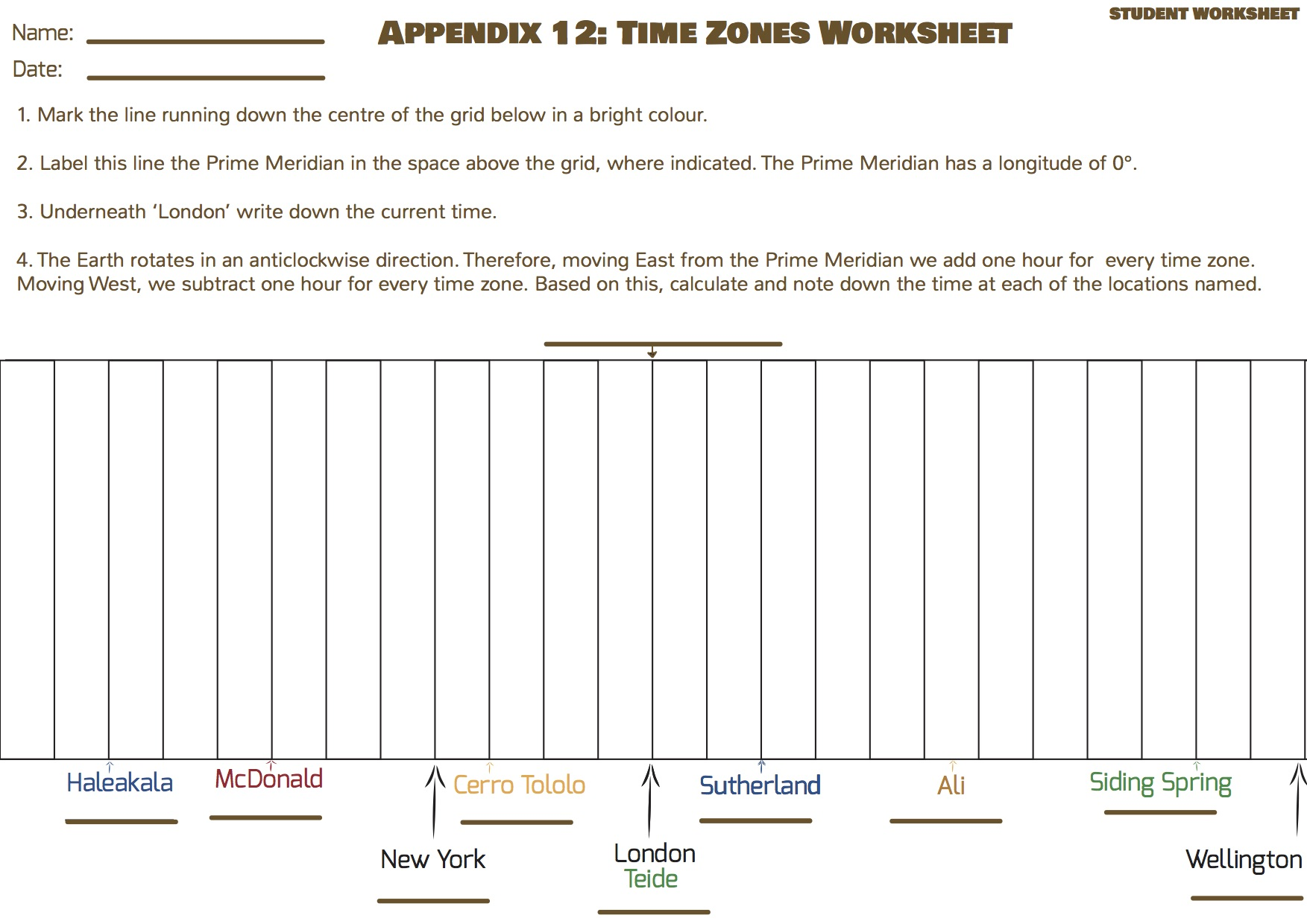 Discover Time Zones Universe In The Classroom