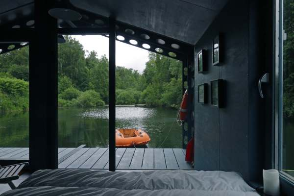 solar power floating cabin