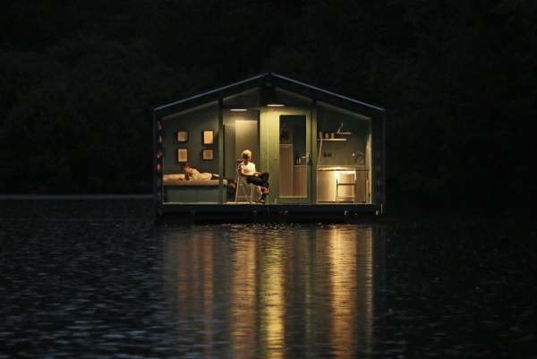 bio architects floating cabin