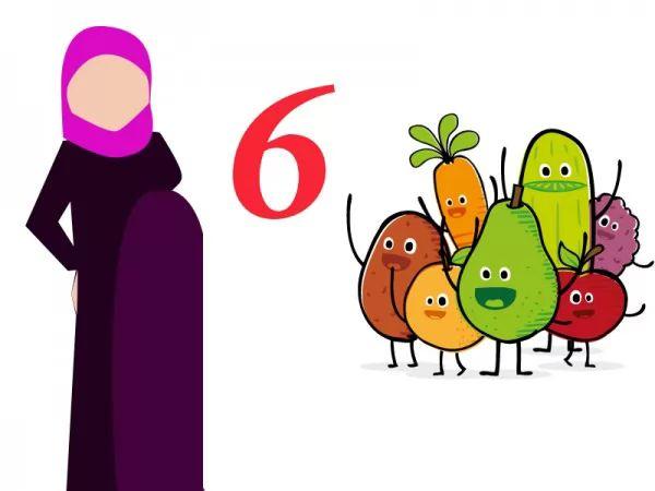ما هو غذاء الحامل في الشهر السادس سحر الكون