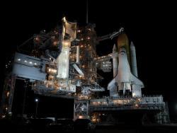 Atlantis on the launchpad. Image credit: NASA