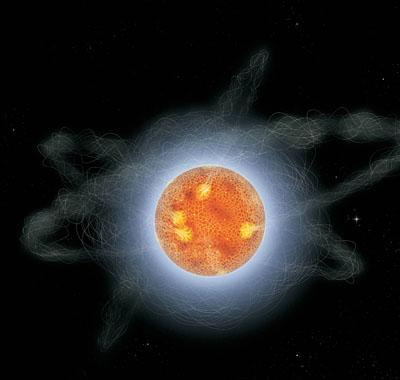 Magnetar electron cloud
