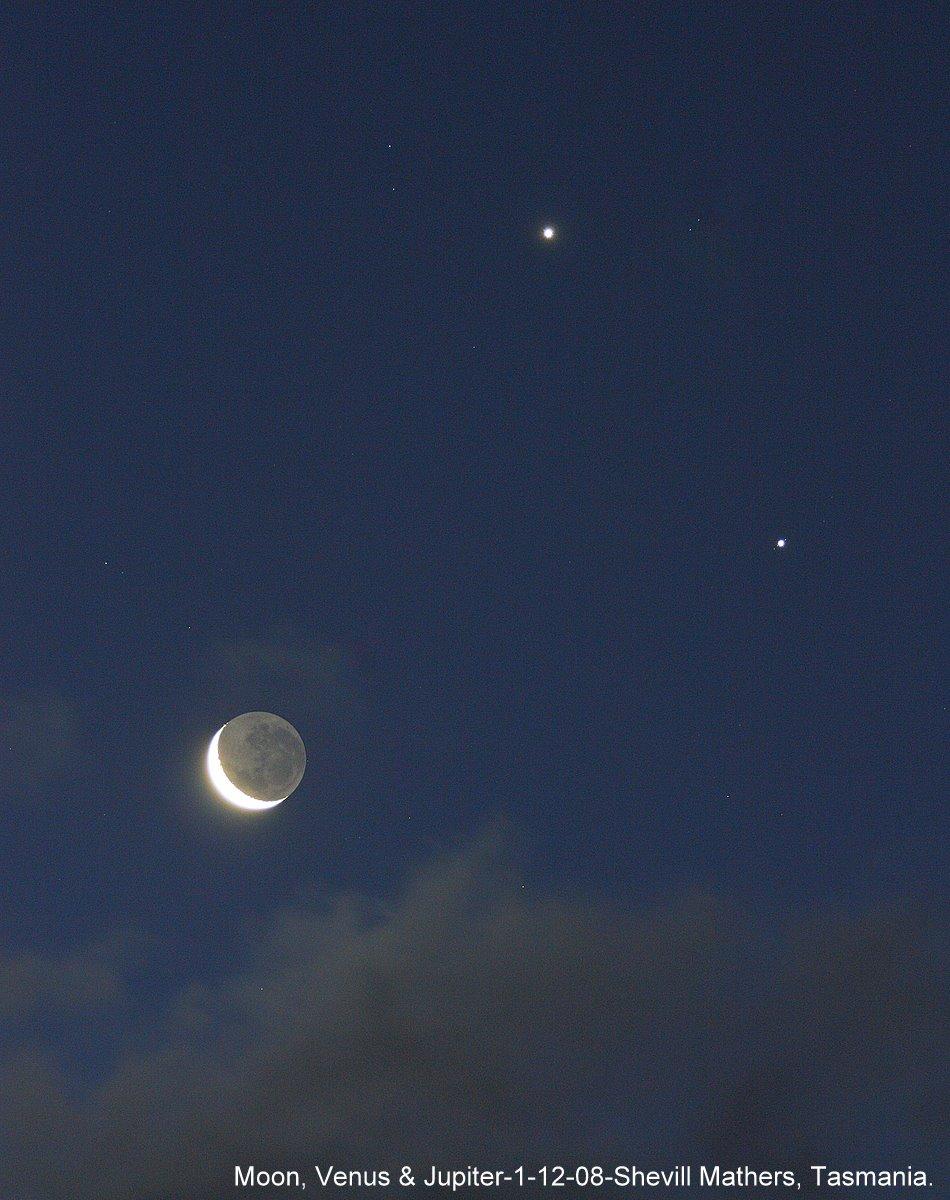Moon, Venus and Jupiter Dazzle on December 1 - Universe Today