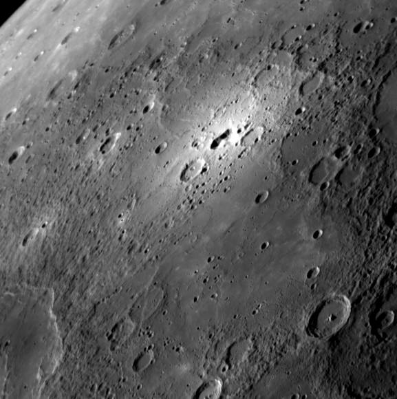 Bright spot on Mercury. Credit: NASA/Johns Hopkins University Applied Physics Laboratory/Carnegie Institution of Washington