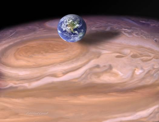 Image result for jupiter red storm size