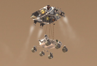 mars rover landing technique - photo #23