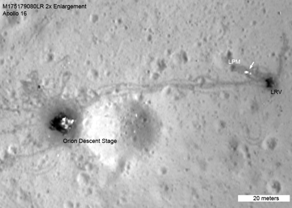 Lunar Satellite Reveals Apollo 16 Remains - Universe Today