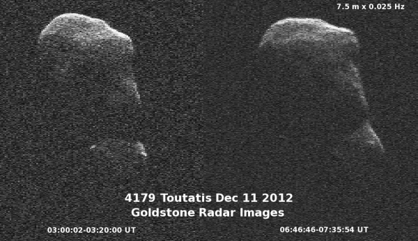 Asteroid Toutatis Tumbles by Earth Images and Videos