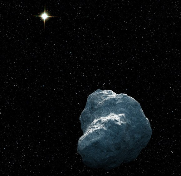 This is an artist's concept of a craggy piece of solar system debris that belongs to a class of bodies called trans-Neptunian objects (TNOs). Credit: NASA