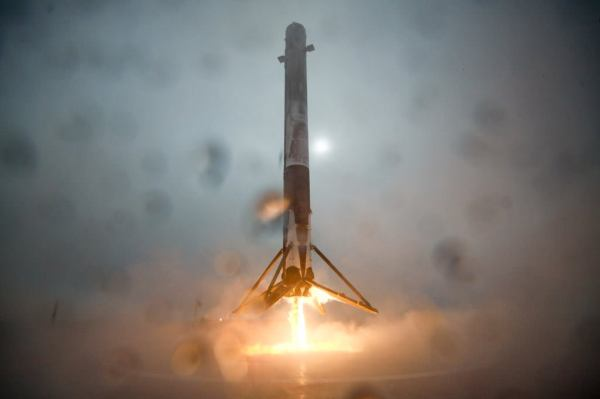 Watch SpaceX Falcon 9 Rocket Almost Stick Droneship Landing then Tip and Explode