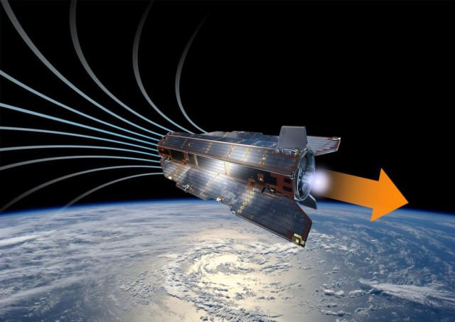 A hypothetical future air-breathing space mission in low orbit around Earth. Image Credit: ESA