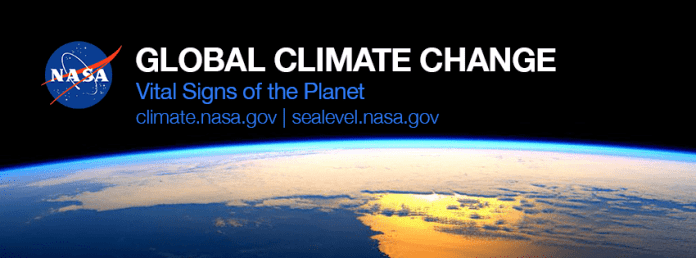 Banner from a NASA Facebook account showing its interest in climate change science.