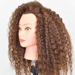 Maniquí de cabello rizado para formación de peluquería Universidad de la Imagen
