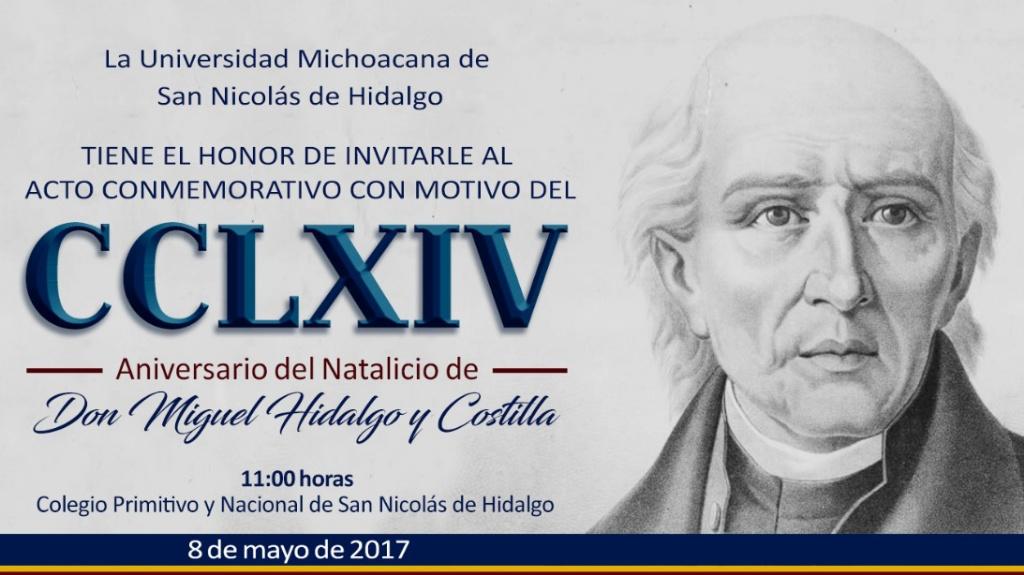 Miguel Hidalgo; la UMSNH conmemora a su Rector perenne
