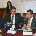 Firma de Convenio de Colaboración entre la UMSNH y el Congreso de Michoacán 1