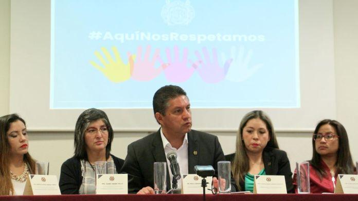 El Rector de la UMSNH, encabezó la rueda de prensa para dar a conocer la Convocatoria a la II Jornada de Inclusión y Equidad de Género en la UMSNH