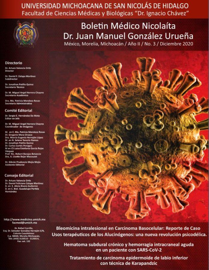 """Boletín Médico Nicolaita """"Dr. Juan Manuel González Urueña"""" en su edición de diciembre del 2020"""
