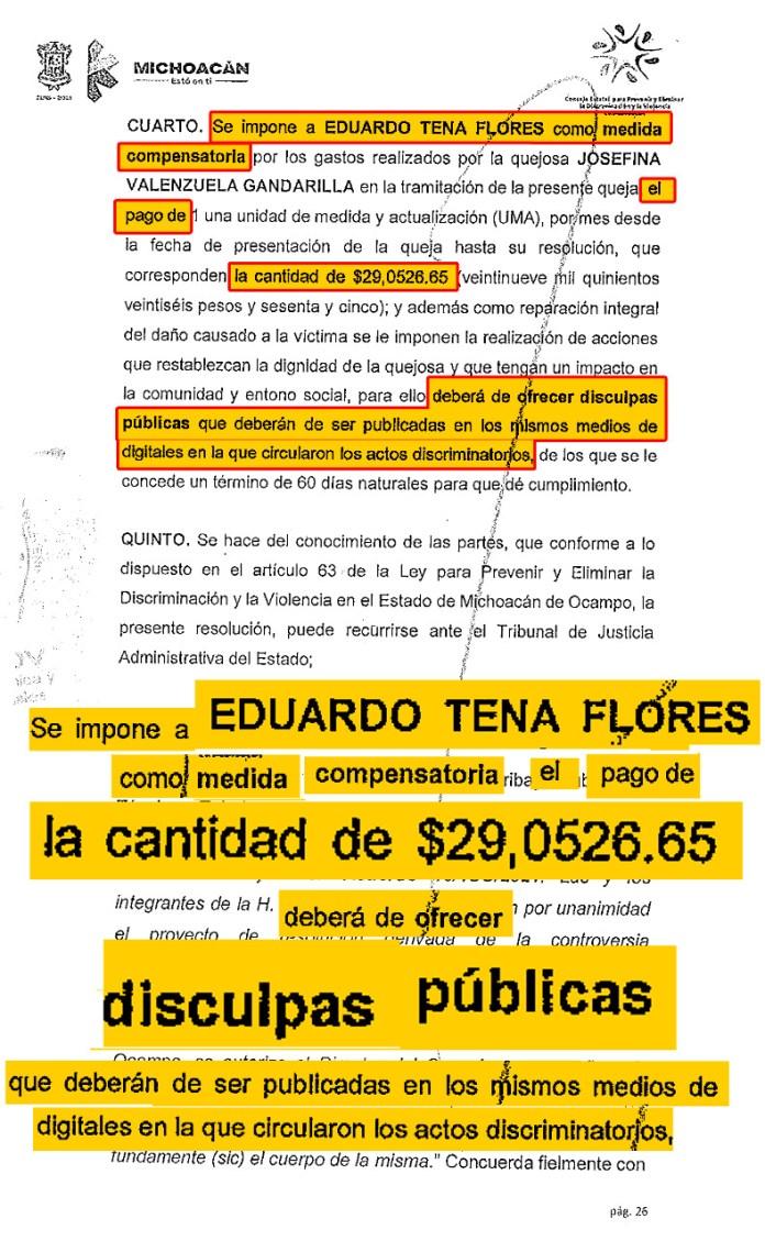 Sanciones al dirigente sindical del SUEUM