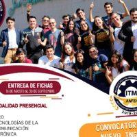 Mantiene el ITM su convocatoria de Nuevo Ingreso al ciclo 2022-2022