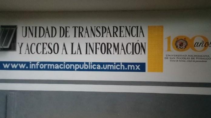 Unidad de Transparencia y Acceso a la Información de la UMSNH