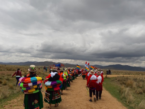 V Regional and III International Walk along the Great Qhapaq Ñan: Tramo Laro - Nicario Puno section, 23/11/2019. Participation of indigenous people from both the Aymara and Quechua areas (from Peru, Northern Chile and Bolivia) and the community in general