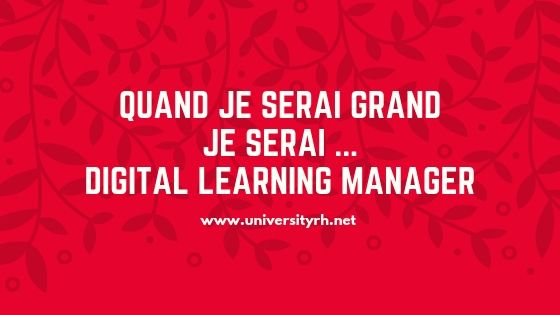 offres emplois Digital Learning Manager
