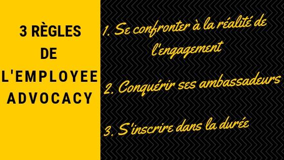 3 règles - employee advocacy