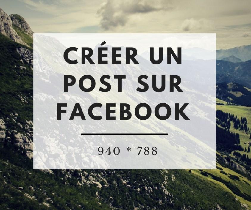 Créer un Post sur Facebook