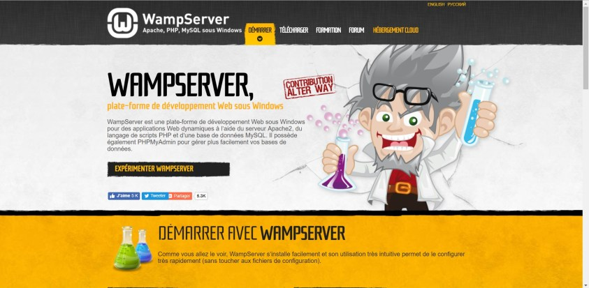 Commencez par télécharger et installer WAMP