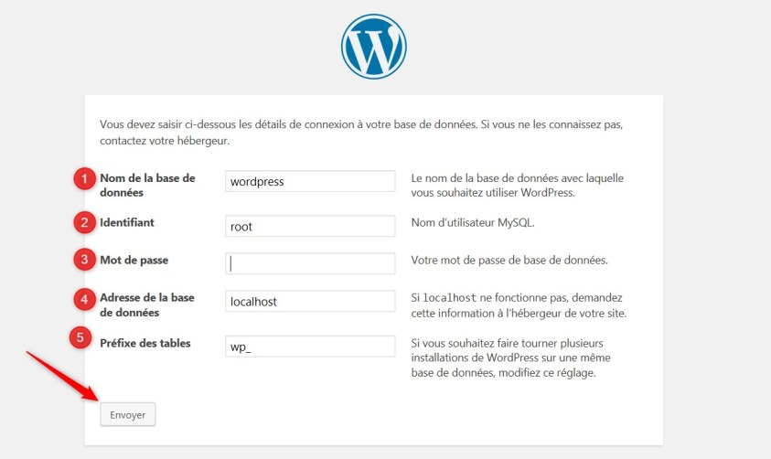 créerune base de données sur wordpress