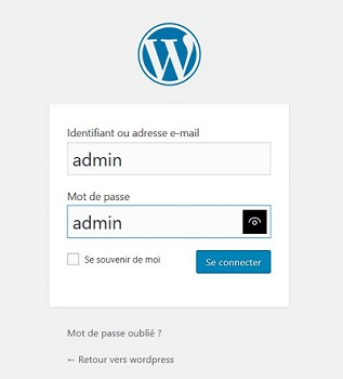 se connecter sur wordpress en tant qu'administrateur