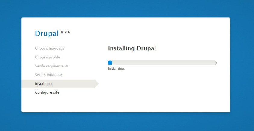 L'installation en local de Drupal