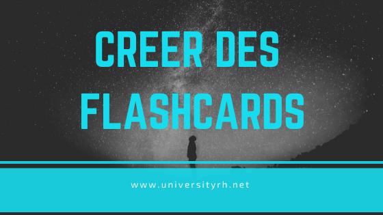 Créer des flashcards