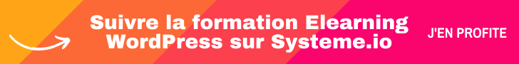 Suivre la formation Elearning WordPress sur Systeme.io