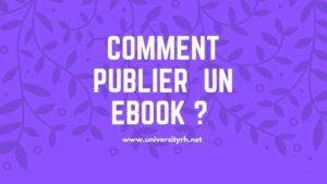 Etape 4 Comment publier votre Ebook