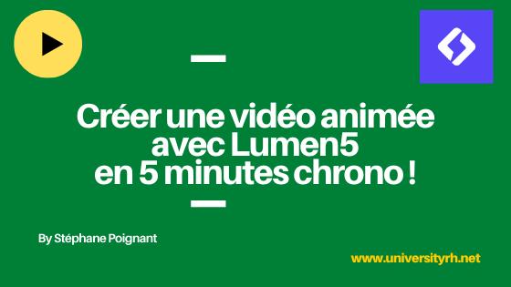 Creer une video animée avec Lumen5