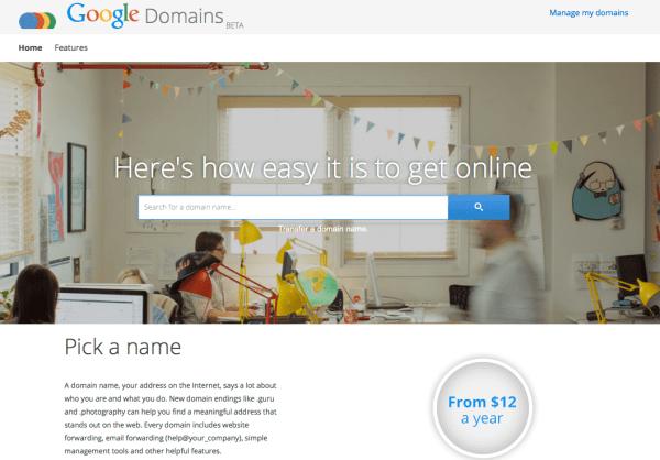Google hace oficial su servicio de Registro de Dominios