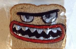 panino con la faccia