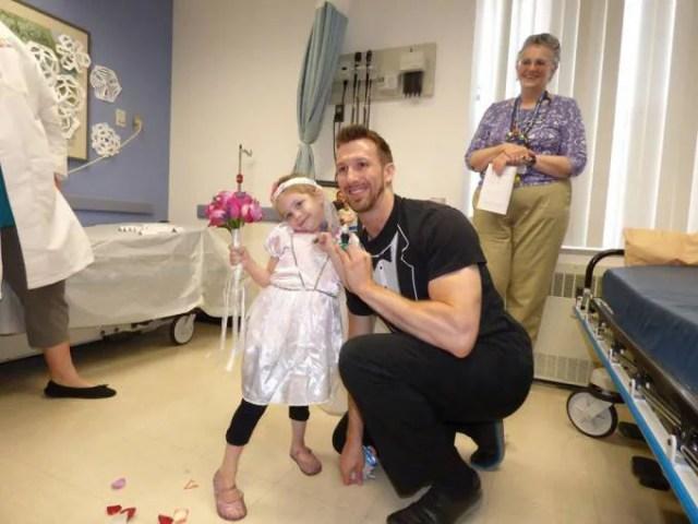 Bambina malata di leucemia