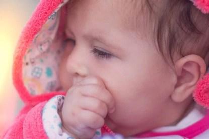 Thumb sucking baby