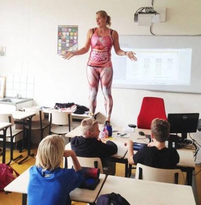 insegnante corpo umano