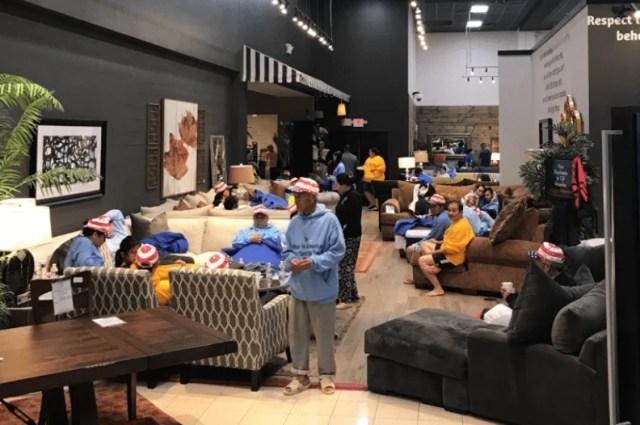 rifugio per le vittime dell'uragano