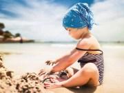 bambini persi in spiaggia
